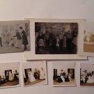 Vintage 7 Real Photographs Photos High School Play 1940s Teens Teenagers