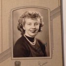Vintage Real Photograph Photo Pretty Girl Dorothy 1944 Graduation Movie Prop