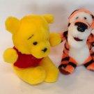 "Plush Set Winnie the Pooh & Tigger 6"" Tall Sitting Position Toy Sears Stuffed"