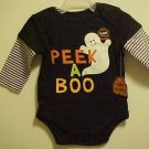 Halloween Baby Creeper Romper Onesy New Unisex Peek A Boo Ghost Size 0-3 Month