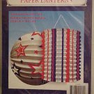 Paper Lanterns Hanging 2 New in Package Patriotic Red White & Blue 4TH Of July