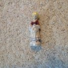 Vintage Enesco Japan Porcelain Victorian Lady Holding Flowers Figure Figurine