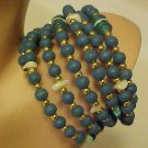 New Wrap Bracelet Beaded Turquoise Blue Glass & Plastic Beads Jewelry