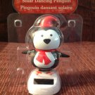 New Solar Sun Powered Chubby Penguin Christmas Dances Sunlight & Wiggles Head