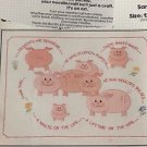 "Watch Your Weight Bucilla Crewel Stitchery Kit Sampler 12"" x 16"" New Vintage Pig"