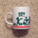Coffee Tea Mug Avon Green Mrs Claus Cooking Santa Santa's Elves 1984 Christmas