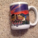 Coffee Tea Mug Las Vegas Strip Hotels Night Sky 12 oz Mirage Luxor Paris MGM