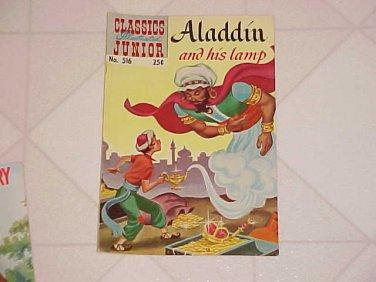 Comic Book Classics Illustrated Junior 516 Aladdin & His Lamp Spring 1969 Issue