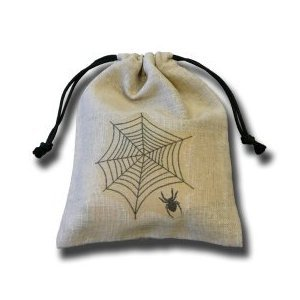 Q-Workshop: Spider&#039;s Web Dice Bag in Linen [Ships free]
