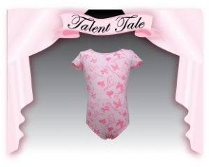 TALENT TALE GIRLS DANCE PRINTED SHORT SLEEVE LEOTARD S(6/6X)
