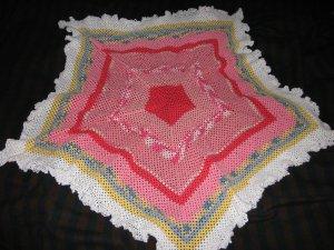 Star Shades of pink thread baby blanket