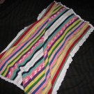 Striped thread baby blanket