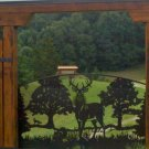 Whitetail Deer Single Swing Driveway Entrance Gate
