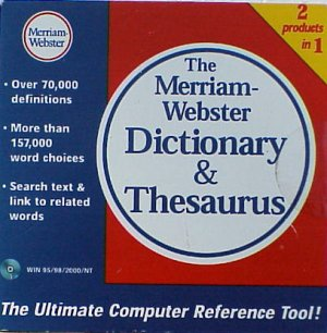 Merriam-Webster Dictionary & Thesaurus - NEW - XP Compatible - FREE Shipping