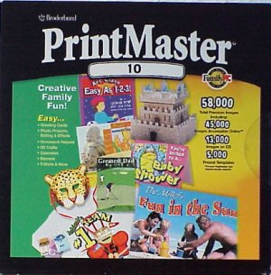 PrintMaster 10 Publishing Suite CD-ROM - NEW - FREE Shipping
