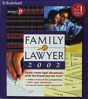 FAMILY LAWYER XP Compatible Wills Trusts Power of Attorney Leases Estate Planning NEW FREE Shipping