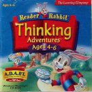 Reader Rabbit Thinking Adventures by The Learning Company - 2 CD Set Ages 4-6 - NEW - FREE Shipping