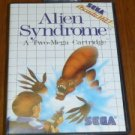 Alien Syndrome A Two-Mega Cartridge Sega Video Game EUC