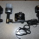 Minolta Maxxum 9000 AF 35mm Film Camera Motor with 4 High End FLASH Units Bundle
