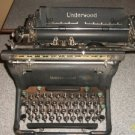 VINTAGE ANTIQUE UNDERWOOD MANUAL METAL WORKING SERVICED TYPEWRITER