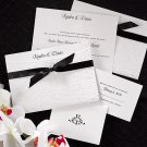 100 Elegant Pearlized Wrapped in Love w/ Ribbon Custom Wedding Invitations