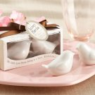48 Sets Love Birds White Doves Salt Pepper Shakers Wedding Favors Bridal Ceramic