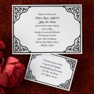 100 Elegant Corner Design Classic Custom Wedding Invitations