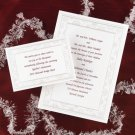 100 Simple Winter Snowflake in Pearl White Classic Custom Wedding Invitations