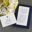 100 Simply Classic Navy Blue & White Custom Wedding Invitations