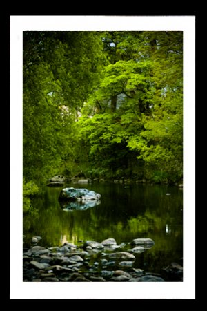 A4 Framed Landscape Print - The River Greta In Keswick