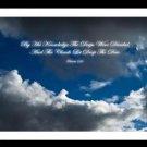 A4 Framed Landscape Print - Proverbs 3:20