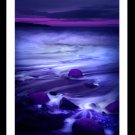A4 Framed Landscape Print - Purple Sparkle