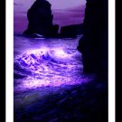 A4 Framed Landscape Print - Purple Wave