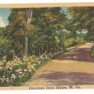 Greetings from Elkins West Virginia