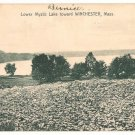Lower mystic Lake toward Winchester Massachusetts