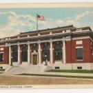 Post Office-Pittsburg Kansas Postcard