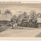 Thatched Houses-Salem Massachusetts postcard