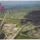 Aerial view of Palm City Florida Postcard