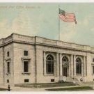 Post Office-Decatur Illinois Postcard