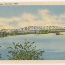 Ohio River Bridge-Marietta Ohio Postcard