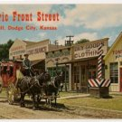 Front Street-Dodge City Kansas Postcard