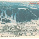 Aerial view of Jackson Wyoming and Snow King Mountain