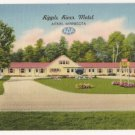 Ripple River Motel-Aitkin Minnesota Postcard