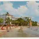Moana Hotel at seen from Waikiki Hotel Postcard