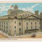 Municipal Auditorium-Denver Colorado Postcard