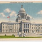 State Capitol-Providence Rhode Island Postcard