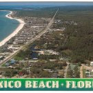 Aerial view of Mexico Beach Florida Postcard