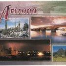 4 Views of Arizona Postcard