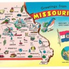 Greetings from Missouri State Map