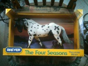 BREYER The Four Seasons Treasure Hunt WINTER Matte #1420 appaloosa